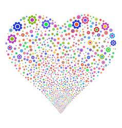 Gear fireworks heart vector