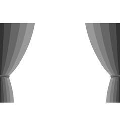 Grey curtain vector