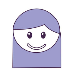 Head girl happy expression vector