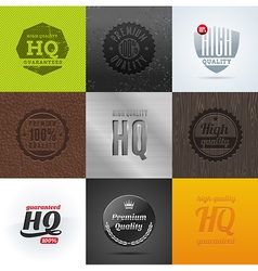 High quality emblems and signs vector