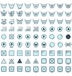 Laundry symbols line design vector
