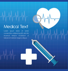 Medical attention service hospital vector