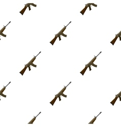 Military assault rifle icon in cartoon style vector image