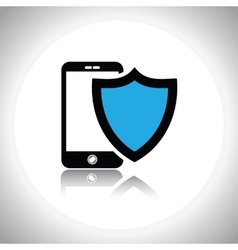 mobile phone security icon vector image