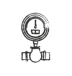 Monochrome blurred silhouette of water meter vector