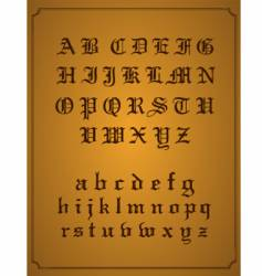 old English typeset vector image vector image