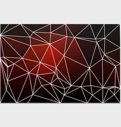 red brown black geometric background with mesh vector image
