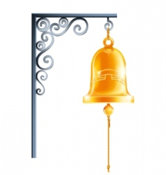 Retro bell at bracket vector