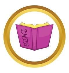 Science book icon vector