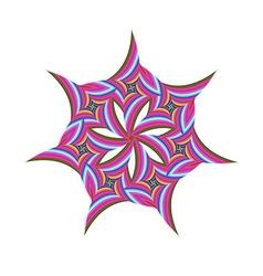 Striped rotated fractal circular symbol design vector
