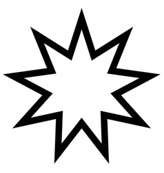 symbol bahai star of nine angles nine vector image