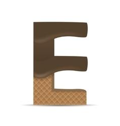 Wafer e letter vector