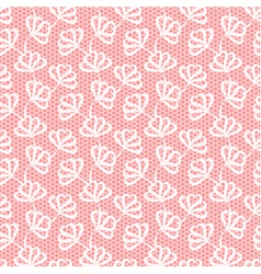 White seamless floral pattern on pink background vector image vector image