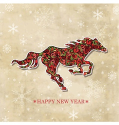 Year of the horse vector image vector image