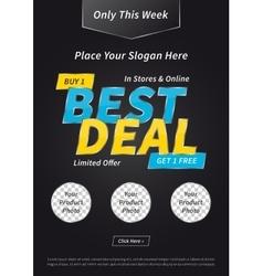 Banner best deal buy get free vector