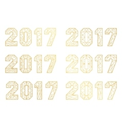 Sign elements 2017 vector image
