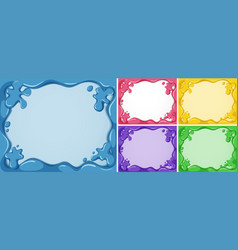 five frame templates in different colors vector image