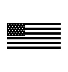american flag icon vector image