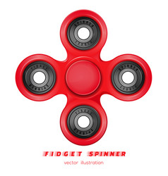 Hand fidget spinner stress-relieving toy vector