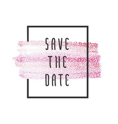 Peach paint save the date vector
