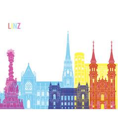 Linz skyline pop vector
