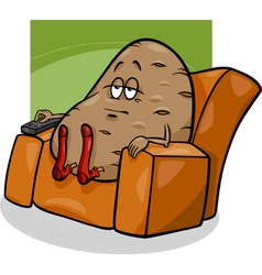Couch potato saying cartoon vector