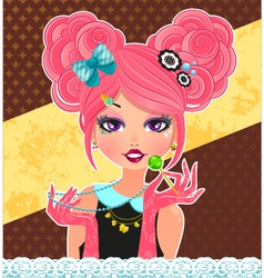 cute fashion style vector image
