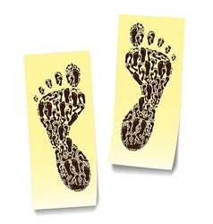 Two steps on the stickers vector