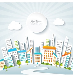 Urban lifestyle town panorama vector