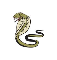 Cobra viper snake attacking cartoon vector