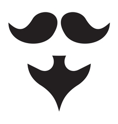 Beard and moustache resize vector