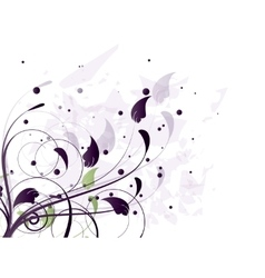 Abstract background with floral elements vector