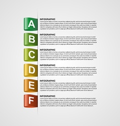 Modern design creative infographic with colorful vector
