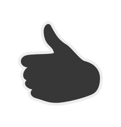 Gesture with fingers icon human hand design vector