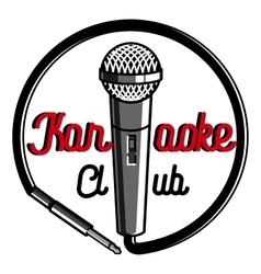 Color vintage karaoke emblems vector