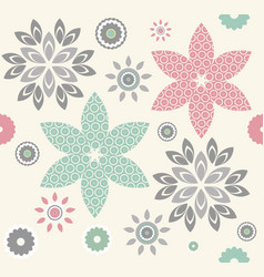 abstract seamless pattern with decorative vector image vector image