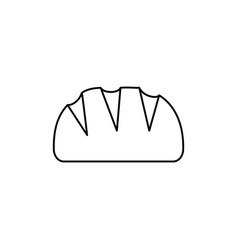 bread line icon sign on vector image