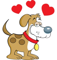 Cartoon puppy love vector