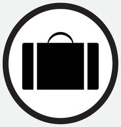 Case icon monochrome black white vector image
