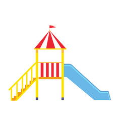 children s slide for playground on white backfit vector image vector image