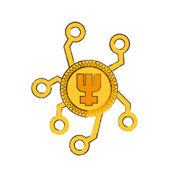 drawing primecoin web icon vector image