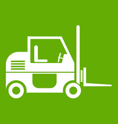 forklift icon green vector image