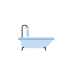 Isolated shower flat icon tub element can vector