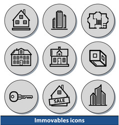 light immovables icons vector image