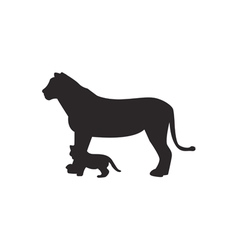 Lion silhouette vector image