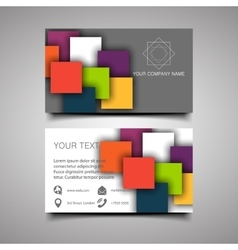 Modern simple light business card template vector image