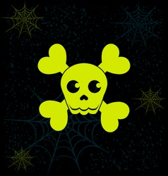 Neon skull halloween graphics vector