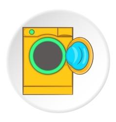 Orange washing machine icon cartoon style vector