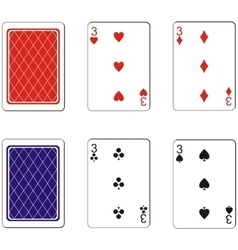 Playing card set 10 vector image