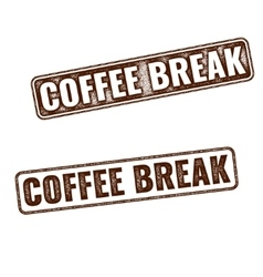 Realistic coffee break grunge rubber stamp vector
